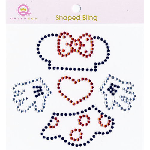 Queen and Company - Magic Collection - Bling - Self Adhesive Rhinestones - Girl Motif