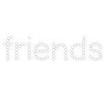 Queen and Company - Pets Collection - Bling - Self Adhesive Rhinestones - Friends