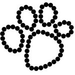 Queen and Company - Pets Collection - Bling - Self Adhesive Rhinestones - Paw