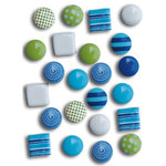 Queen and Company - Sprinkles - Make Waves - Mini Brads, CLEARANCE