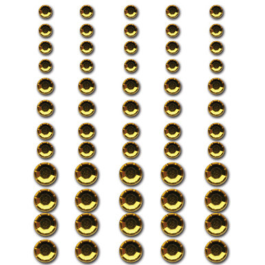 Queen and Company - Bling - Self Adhesive Rhinestones - Fools Gold, CLEARANCE