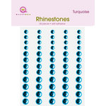 Queen and Company - Jewels - Adhesive Rhinestones - Turquoise, BRAND NEW