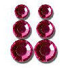 Queen and Company - Jewels - Adhesive Rhinestones - Dark Pink, CLEARANCE