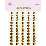Queen and Company - Bling - Self Adhesive Rhinestones - Sunflower Yellow, CLEARANCE