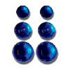 Queen and Company - Jewels - Adhesive Rhinestones - Dark Blue, CLEARANCE