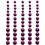 Queen and Company - Bling - Adhesive Pearls - Dark Purple, BRAND NEW