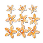 Queen and Company - Self Adhesive Twinkle Blooms - Orange