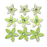 Queen and Company - Self Adhesive Twinkle Blooms - Green