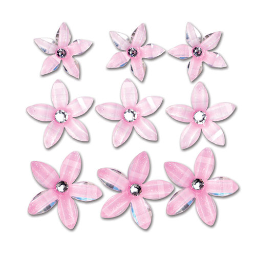 Queen and Company - Self Adhesive Twinkle Blooms - Pink