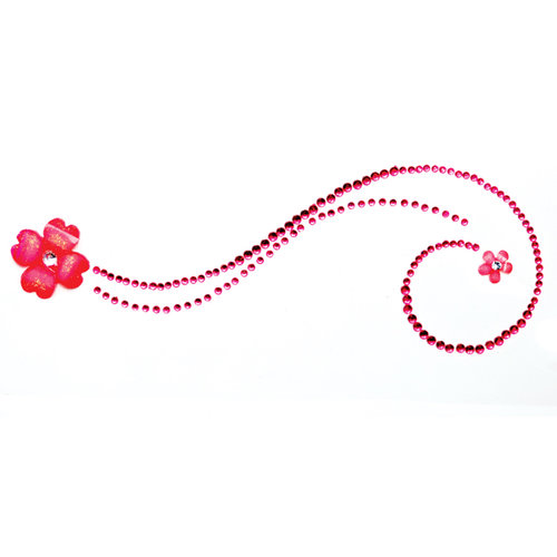 Queen and Company - Bling - Twinkle Motifs - Self Adhesive Rhinestones - Dark Pink