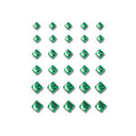Queen and Company - Bling - Self Adhesive Rhinestones - Princess Cut - Green