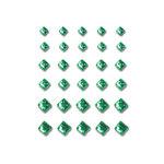 Queen and Company - Bling - Self Adhesive Rhinestones - Princess Cut - Green