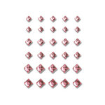 Queen and Company - Bling - Self Adhesive Rhinestones - Princess Cut - Pink
