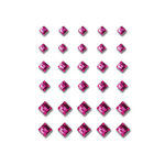 Queen and Company - Bling - Self Adhesive Rhinestones - Princess Cut - Dark Pink