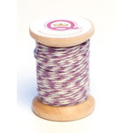 Queen and Company - Twine Spool - Purple and White