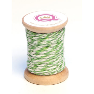 Queen and Company - Twine Spool - Green and White