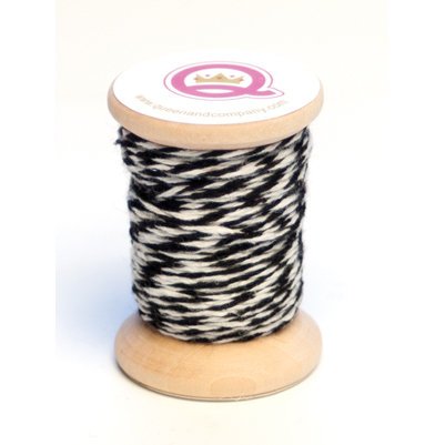 Queen and Company - Twine Spool - Black and White