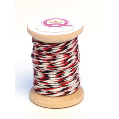 Queen and Company - Magic Collection - Twine Spool - Red Black and White