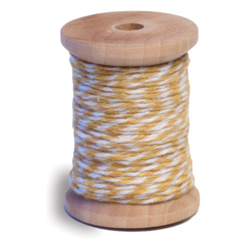 Queen and Company - Twine Spool - Yellow and White