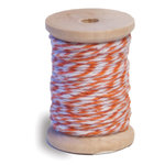 Queen and Company - Twine Spool - Orange and White