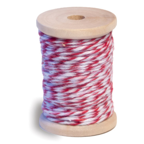 Queen and Company - Twine Spool - Red Pink and White