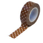 Queen and Company - Trendy Tape - Polka Dot Brown