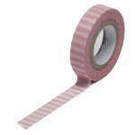Queen and Company - Trendy Tape - Skinny Mini - Pink Stripe