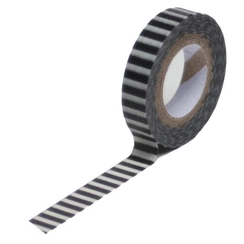 Queen and Company - Trendy Tape - Skinny Mini - Black Stripe