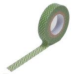 Queen and Company - Trendy Tape - Skinny Mini - Green Chevron