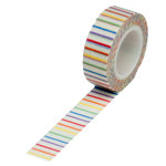 Queen and Company - Trendy Tape - Rainbow Pencil Stripe