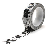 Queen and Company - Trendy Tape - Flower Swirl Black
