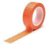 Queen and Company - Trendy Tape - Grid Orange