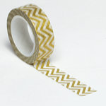 Queen and Company - Trendy Tape - Small Chevron Gold