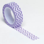 Queen and Company - Trendy Tape - Small Chevron Purple