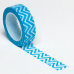 Queen and Company - Trendy Tape - Small Chevron Blue