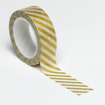 Queen and Company - Trendy Tape - Diagonal Stripe Gold