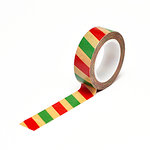 Queen and Company - Trendy Tape - Kraft - Christmas Stripe