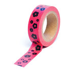 Queen and Company - Trendy Tape - Flowers Hot Pink