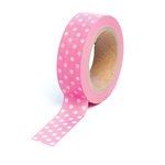 Queen and Company - Trendy Tape - Polka Dot Pink