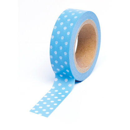 Queen and Company - Trendy Tape - Polka Dot Blue