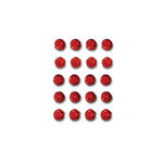 Queen and Company - Bling - Self Adhesive Rhinestones - Goosebumps - Red