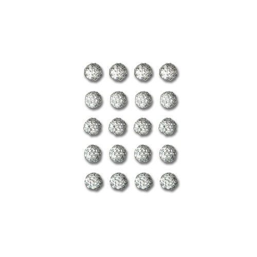 Queen and Company - Bling - Self Adhesive Rhinestones - Goosebumps - Clear