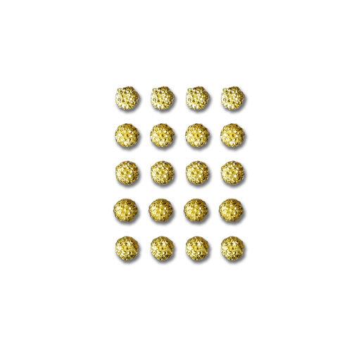 Queen and Company - Bling - Self Adhesive Rhinestones - Goosebumps - Yellow