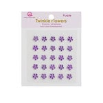 Queen and Company - Candy Shoppe Collection - Self Adhesive Twinkle Flowers - Purple