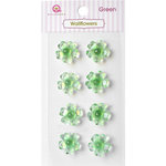 Queen and Company - Bling - Self Adhesive Rhinestones - Wallflowers - Green