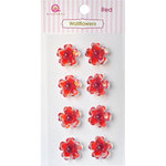 Queen and Company - Bling - Self Adhesive Rhinestones - Wallflowers - Red
