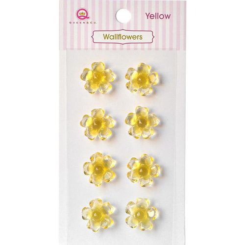 Queen and Company - Bling - Self Adhesive Rhinestones - Wallflowers - Yellow
