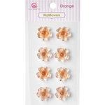 Queen and Company - Bling - Self Adhesive Rhinestones - Wallflowers - Orange