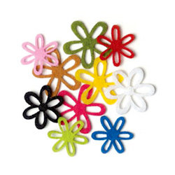Queen and Company - Felt Flower Mix - Small - 100 Pieces