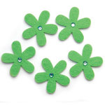 Queen and Company - Jeweled Felt Flowers - Lime Green, CLEARANCE